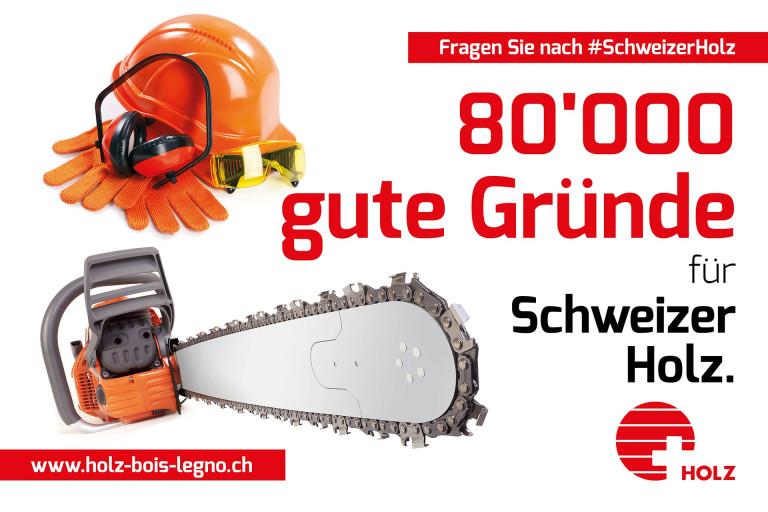 80'000 gute Gründe für Schweizer Holz